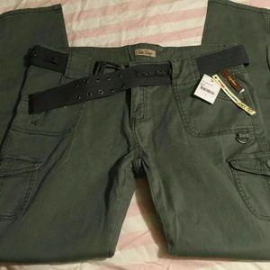 BEBOP women's cargo pants 15(XL) belt pocket B50